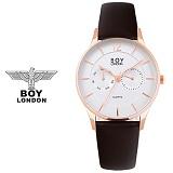 보이런던시계 BLD5106-골드 남성 가죽 손목시계