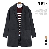 [뉴비스] NUVIIS - 클래식 누빔 모직 싱글 코트 (HD020CT)