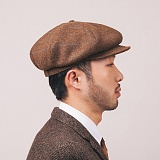 [와일드브릭스] WILDBRICKS - NEWSBOY CAP (brown) 뉴스보이 빵모자