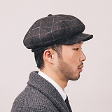 와일드브릭스 - NEWSBOY CAP (black) 뉴스보이 빵모자