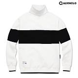 [앨빈클로]ALVINCLO MAR-633W  배색목폴라 맨투맨 크루넥 스��셔츠