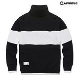 [앨빈클로]ALVINCLO MAR-633B  배색목폴라 맨투맨 크루넥 스��셔츠