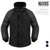 [뉴비스] NUVIIS - 퀄팅 양털하이넥 패딩점퍼 (WS033PD)