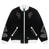 STIGMA - DRAGON VELVET SOUVENIR JACKET BLACK_재킷 스카쟌