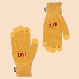 [피스메이커]PIECE MAKER - [착한장갑]LOVE HATE SMART GLOVE (MUSTARD) 커플 스마트 장갑