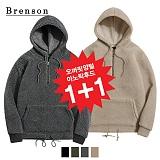 [1+1][Brenson]브렌슨 - 오버핏 양털 아노락 후드