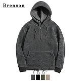 [Brenson]브렌슨 - 오버핏 양털 아노락 후드