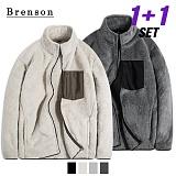 [1+1]브렌슨 - 보아양털 레트로 집업 후리스