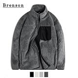 [Brenson]브렌슨 - 보아양털 레트로 집업 후리스