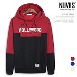 [뉴비스] NUVIIS - 헐리우드 기모 포켓 오버핏 후드 티셔츠 (NB143HD)