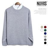 [뉴비스] NUVIIS - 오버핏 베이직 라운드니트 (SM018KN)