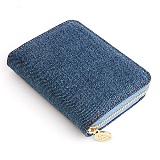 [쏘차밍] 라이틀리 데님 아코디언 카드지갑-블루