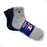 [챔피온]Champion - Half Socks Black/Navy/Grey 3pcs 스포츠양말 양말