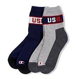 [챔피온]Champion - Half Socks USA 2pcs 스포츠양말 양말