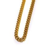 [디자인바이티에스에스]Design By TSS JESUS SQUARE CUBAN LINK NECKLACE NECKLACE (GOLD) 쿠반 체인 넥클리스