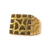[디자인바이티에스에스]Design By TSS JESUS SQUARE NUGGET RING (GOLD) 너겟링 반지
