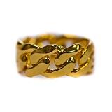 [디자인바이티에스에스]Design By TSS JESUS SQUARE CUBAN LINK RING (GOLD) 쿠반 링크 링 반지