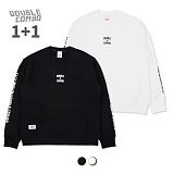 [1+1][더블콤보]DOUBLECOMBO 영앤뷰티플 맨투맨 (5color) 크루넥 스��셔츠