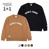 [1+1][더블콤보]DOUBLECOMBO 더블콤보 아치로고 맨투맨 (5color) 크루넥 스��셔츠