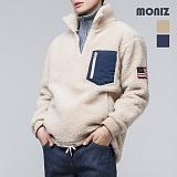 [모니즈]MONIZ 헤비양털 성조기 아노락 반집업 FLE202