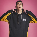[마라하지]MALAHAZY INLINE Heavyweight Hoody BLACK 인 라인 후디 후드