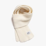 [피스메이커]PIECE MAKER - SOLID LAMBSWOOL MUFFLER (WHITE) 목도리 머플러