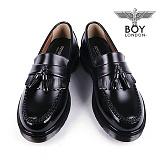 [보이런던]540bl-hote 남성 아도방 마틴창 태슬 로퍼-4cm(블랙) 남자 호테 구두 신발 캐주얼 정장