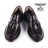 [보이런던]540bl-hote 남성 아도방 마틴창 태슬 로퍼-4cm(브라운) 남자 호테 구두 신발 캐주얼 정장