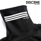 [DISCENE] 디씬 3LINE 오버핏 기모 목폴라 BLACK