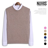 [뉴비스] NUVIIS - 램 앞트임 니트조끼 (TR132VS)