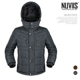 [뉴비스] NUVIIS - 모직 배색 후드패딩점퍼 (WS038PD)