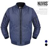 [뉴비스] NUVIIS - 심플 데님 항공점퍼 (DB017JP)