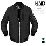 [뉴비스] NUVIIS - 심플 패치 항공점퍼 (DB016JP)