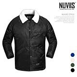 [뉴비스] NUVIIS - 넥라인 양털 코치 점퍼 (RW049JP)