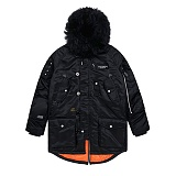 STIGMA - CLOSER N-3B PARKA BLACK