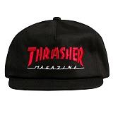 [트래셔] THRASHER MAGAZINE LOGO TWO-TONE HAT (BLACK/RED) 매거진 로고 투톤 햇