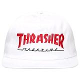 [트래셔] THRASHER MAGAZINE LOGO TWO-TONE HAT (WHITE/RED) 매거진 로고 투톤 햇