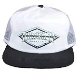[트래셔] THRASHER DIAMOND EMBLEM TRUCKER HAT (WHITE) 다이아몬드 엠블렘 트러커 햇