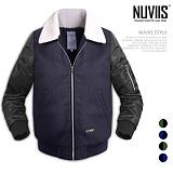 [뉴비스] NUVIIS - 모직배색 양털 항공점퍼 (RW050JP)