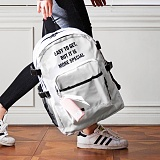 [해시35] HASH35 - Line Lettering Backpack (White) 라인 레터링 백팩
