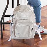 [해시35] HASH35 - Line Lettering Backpack (Beige) 라인 레터링 백팩
