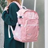 [해시35] HASH35 - Line Lettering Backpack (Pink) 라인 레터링 백팩