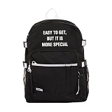 [해시35] HASH35 - Line Lettering Backpack (Black) 라인 레터링 백팩