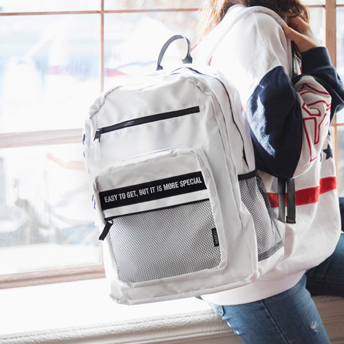 [해시35] HASH35 - Time Mesh Backpack (White) 타임 메쉬 백팩