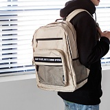 [해시35] HASH35 - Time Mesh Backpack (Beige) 타임 메쉬 백팩