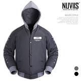 [뉴비스] NUVIIS - 소매자수 후드점퍼 (RO027JP)