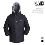 [뉴비스] NUVIIS - 모직 후드 이중점퍼 (RO028JP)