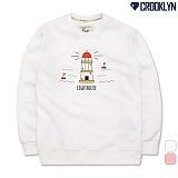 [크루클린] CROOKLYN 등대 맨투맨 MRL459 크루넥 스��셔츠