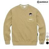 [앨빈클로]ALVINCLO MAR-830BE 포켓피규어 맨투맨 크루넥 스��셔츠