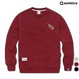 [앨빈클로]ALVINCLO MAR-629WN 공구자수 맨투맨 크루넥 스��셔츠